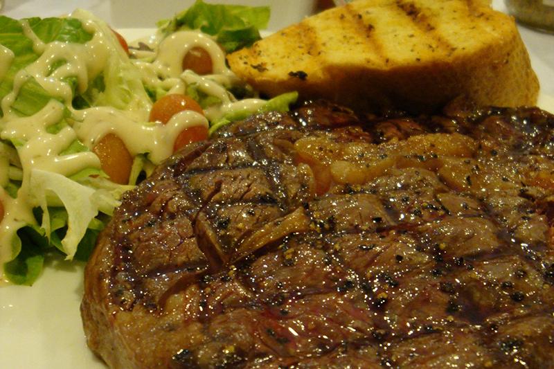 Angus Prime rib-eye steak - how juicy