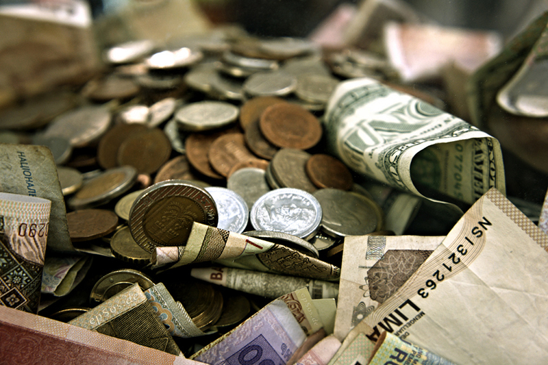 Coins versus bills