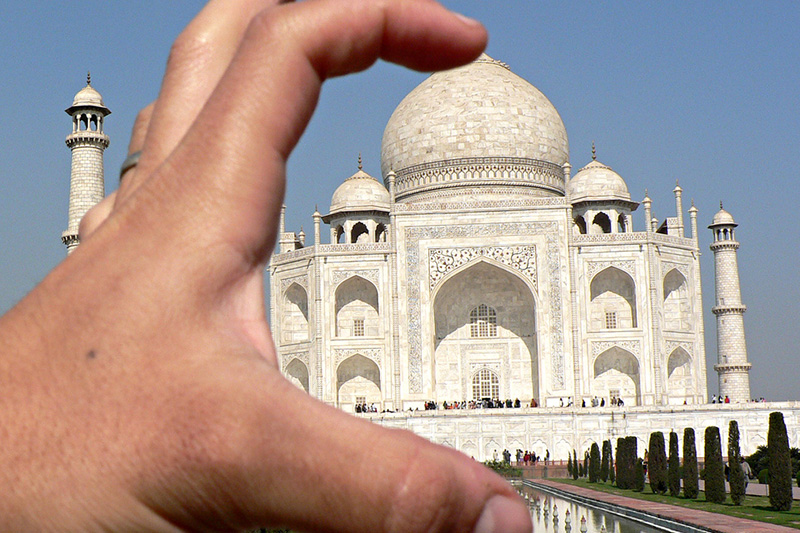 Crushing the Taj Mahal with One Hand