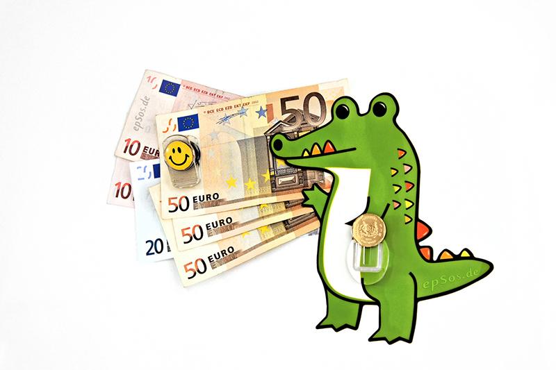 "Dinosaur says ""Money Talks"""