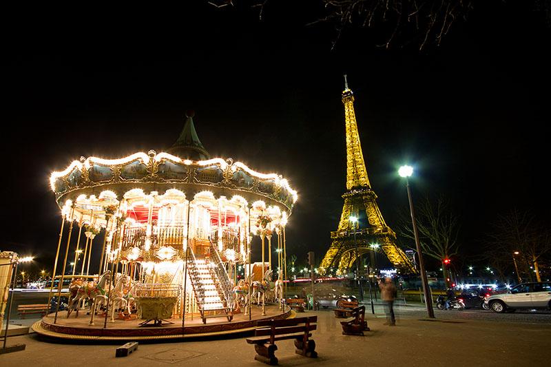 Eiffel Tower and Merrygoaround