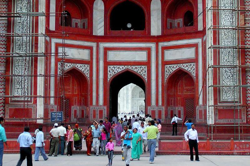 Front Door of the Taj Mahal