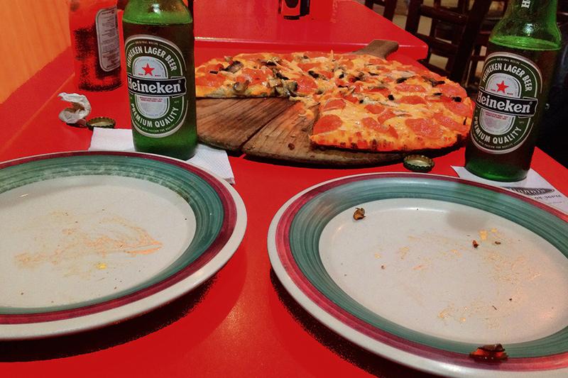 Heineken & Pizza in Mexico