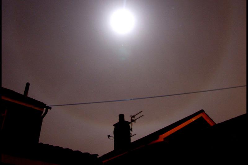 Lunar Halo and Jupiter 23rd December 2012