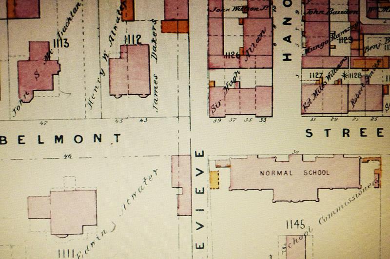 Montréal 1881. La rue Belmont et le McGill Normal School