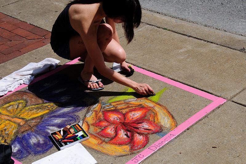 Sidewalk art at Mayfest