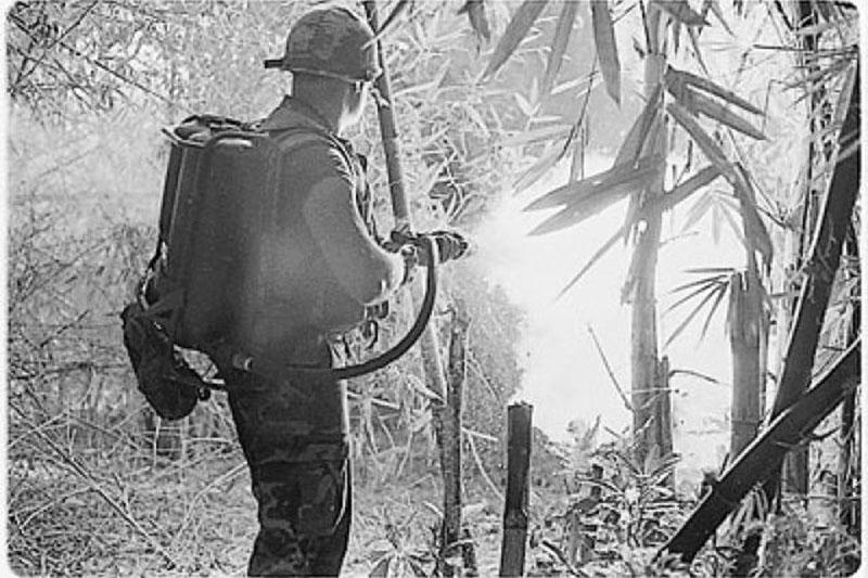 Soldier uses FlameThrower