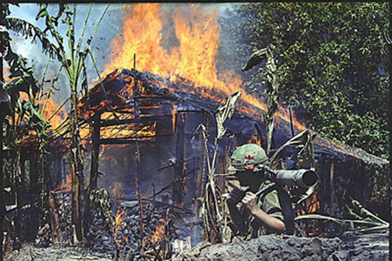 Viet Cong Base Camp Being Destoryed