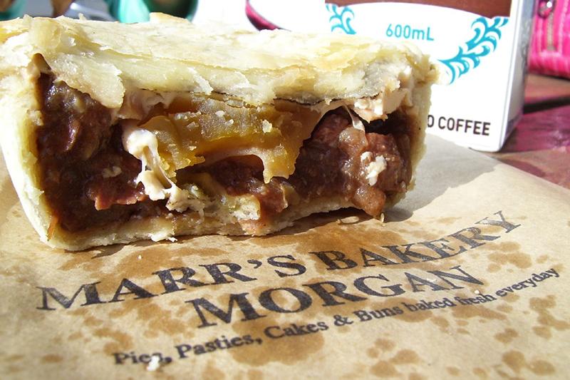 Fantastic Steak, Egg & Bacon pie from Marrs Bakery